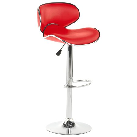 Superb Displays2Go Adjustable Bar Stool With Back Includes Foot Rest And 360 Degree Swivel Hydraulic Lift Synthetic Leather Gmtry Best Dining Table And Chair Ideas Images Gmtryco