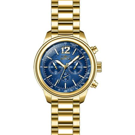 Invicta Men's 28896 Aviator Quartz Chronograph Blue Dial Watch Aviator Pilot Chronograph Watch