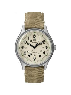 Timex Men's MK1 40mm Khaki Fabric Strap| Dress Watch TW2R68000