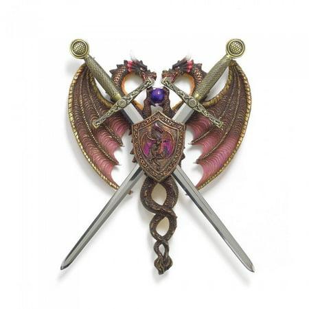 SWORD AND DRAGON COAT-OF-ARMS (Dragon Wall Swords)