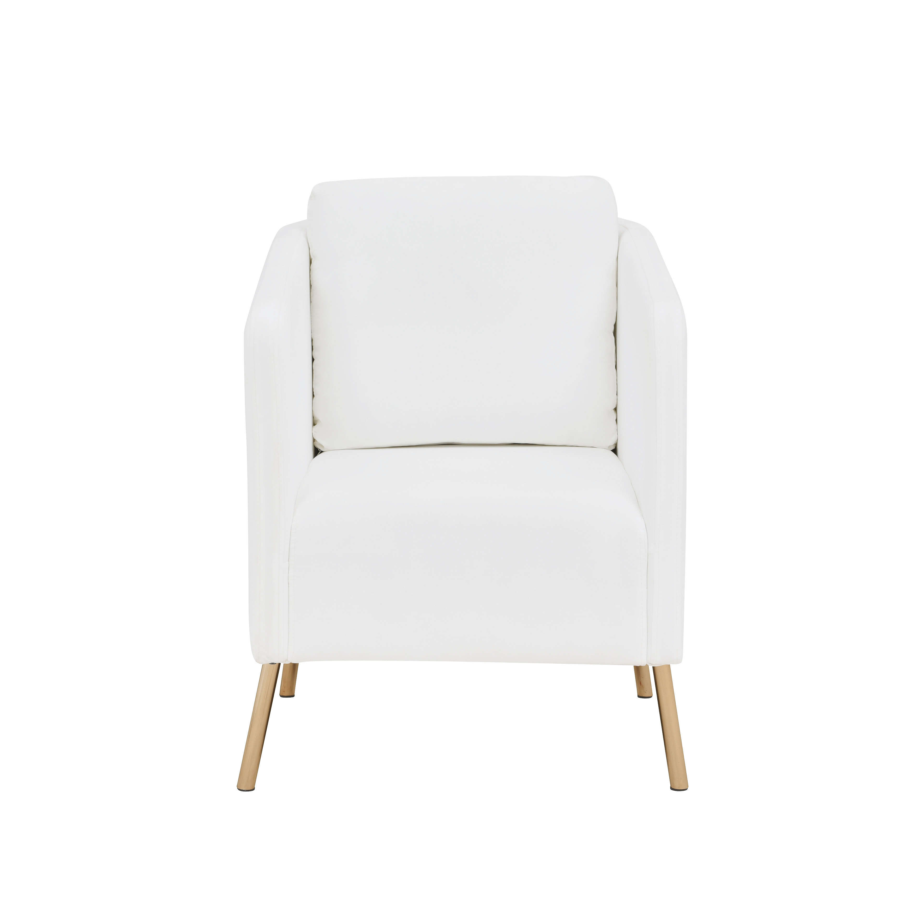 Mainstays Velvet Look Arm Chair With Gold Legs, Multiple Colors