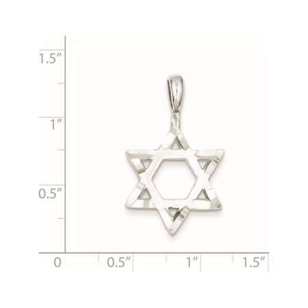 925 Sterling Silver Star of David (19x31mm) Pendant / Charm - image 2 of 2