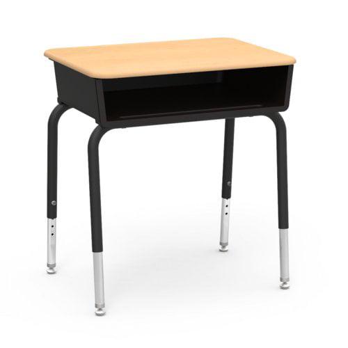 Virco 785 Series Plastic Adjustable Height Open Front Desk Set Of 2 Walmart Com Walmart Com