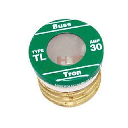 Bussmann BP/TL-30 30 Amp Time Delay, Loaded Link Edison Base Plug Fuse, 125V UL Listed Carded, 3-Pack