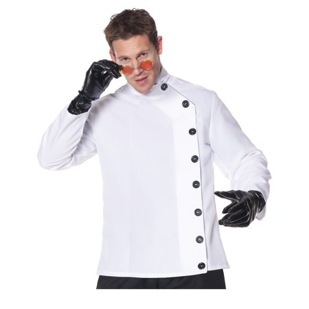 Mad Scientist Mens Adult Lab Coat Halloween Costume - Halloween Mad Scientist Lab