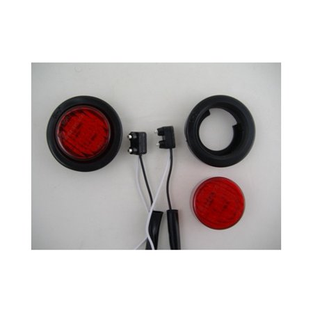 "(2) Red 2"" Round 9 LED Custom Mini Stop Turn Brake Tail Lights"