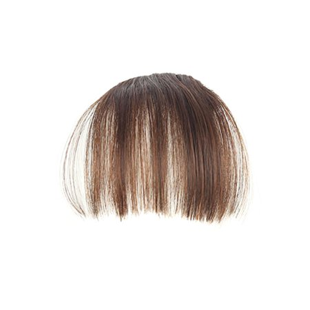 Fashion Air Fringe Bang Women Wigs Front Neat Bangs with Clip In Girl Hair Extensions