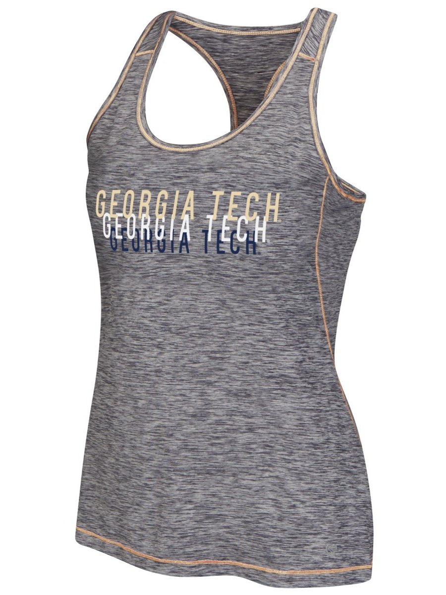 Georgia Tech Yellowjackets Women's Race Course Performance Racer Back Tank Top by Colosseum