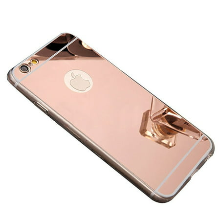 Apple iPhone 7 Plus Case, Reflective Mirror Easy Grip Slim Armor Case for Iphone 7 Plus - Rose - Apple Cobbler Easy