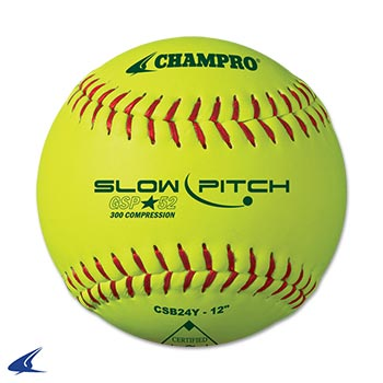 Game .52 Slow Pitch Softball- 12'', 12 per Set