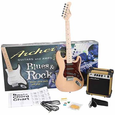 Archer SS10 Blues and Rock Jr. Electric Guitar Package - Natural