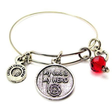My Dad Is My Hero - Firefighter Symbol Collection - Firefighter Bracelets