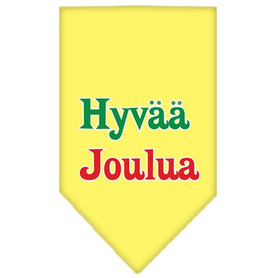 Hyvaa Joulua Screen Print Bandana Yellow Small