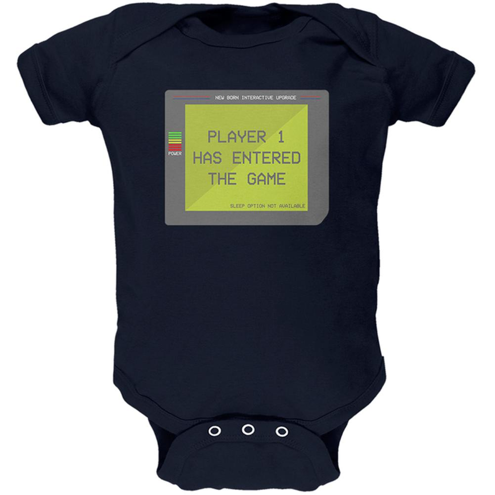 Player 1 One Costume New Born Gamer Funny Soft Baby One Piece