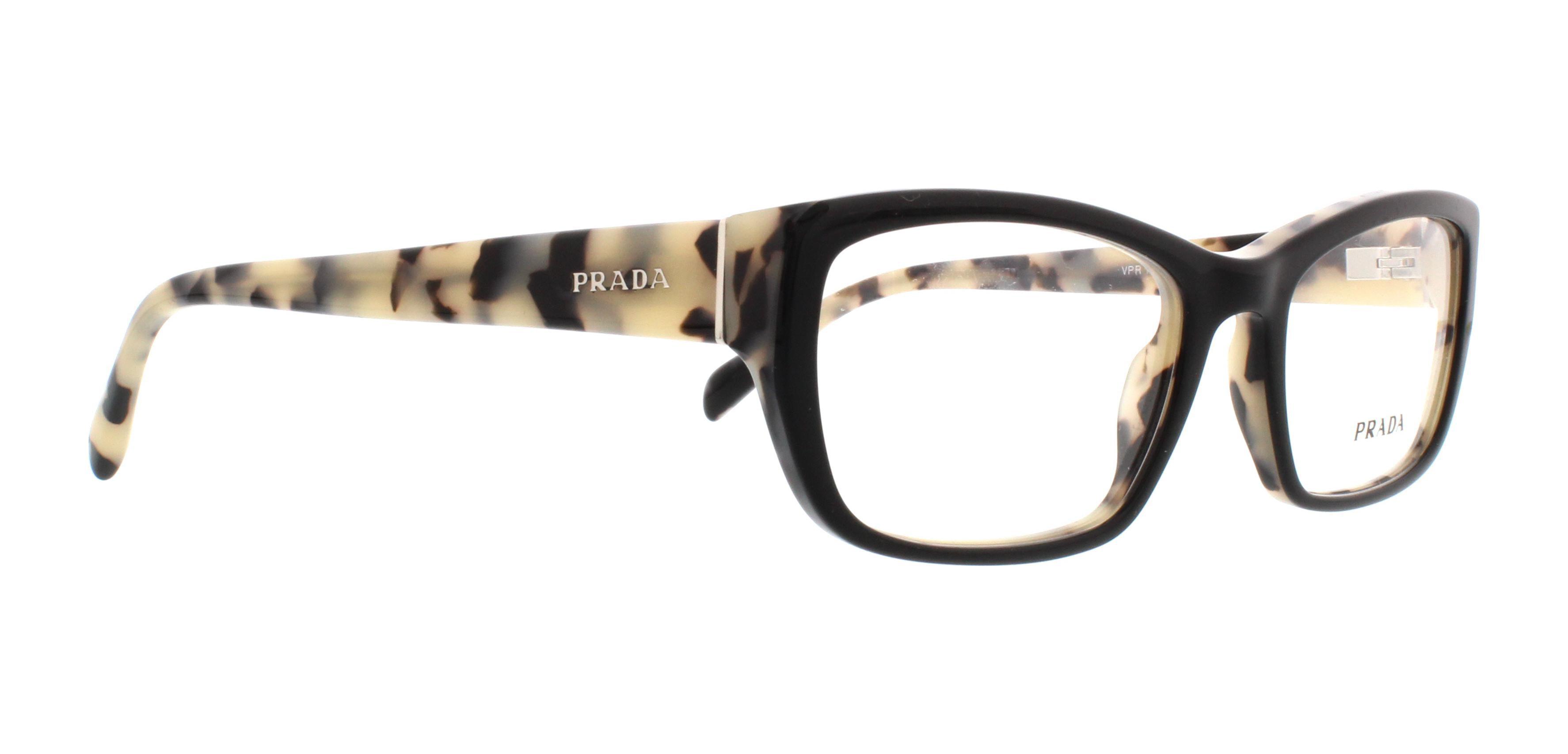9e7288286ec6 PRADA Eyeglasses PR 18OV ROK1O1 Top Black White Havana 52MM - Walmart.com