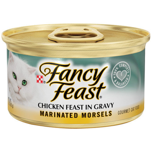 Fancy Feast Marinated Morsels Chicken Feast Wet Cat Food (3-oz can,case of 24)