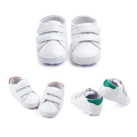 Kacakid Newborn Baby Unisex PU Leather Soft Bottom Soles Shoes First Walkers Sneakers