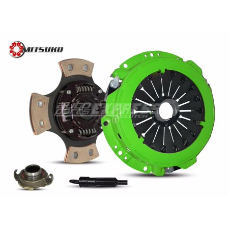 Clutch Kit works with Hyundai Elantra Tiburon GLS Gs GT Limited Base FX Wagon Coupe 1996-2008 1.8L 2.0L l4 GAS DOHC Naturally Aspirated (4 Puck Clutch Disc Stage