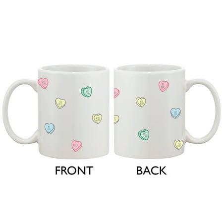 Cute 11oz Coffee Mug - Valentine Sweethearts Ceramic Coffee Mug Cup Gift
