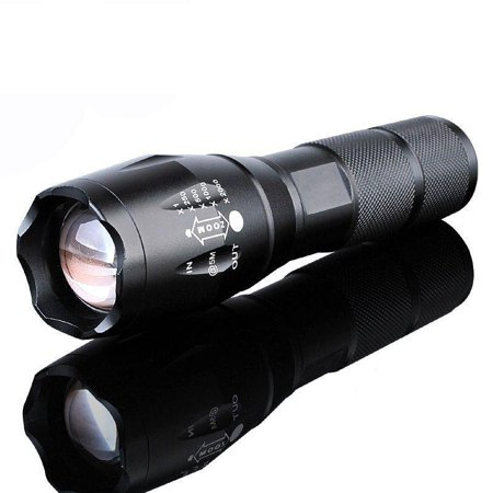 - Ktaxon 5Mode Zoomable LED 18650 Flashlight Focus Torch Lamp Adjustable,Great for Camping Climbing Hiking