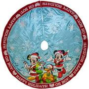 Kurt Adler 48-Inch Mickey and Minnie Print Satin Tree skirt