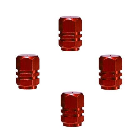 4PCS Aluminum Car Wheel Tires Valves Tyre Stem Air Caps Airtight - image 6 de 7