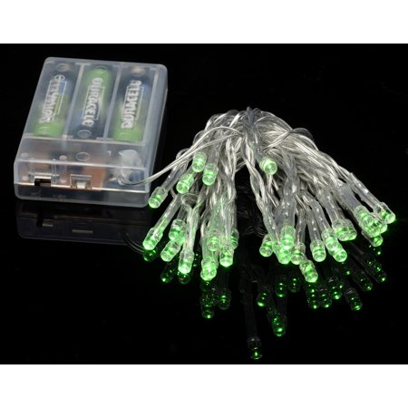 Fantado 30 LED Green Mini String Lights, 10.8 FT Clear Cord, Battery Operated by PaperLanternStore ()