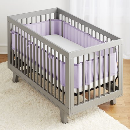 BreathableBaby® Classic Breathable® Mesh Crib Liner- Lavender