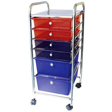 cropper hopper home center rolling cart 6 drawer. Black Bedroom Furniture Sets. Home Design Ideas
