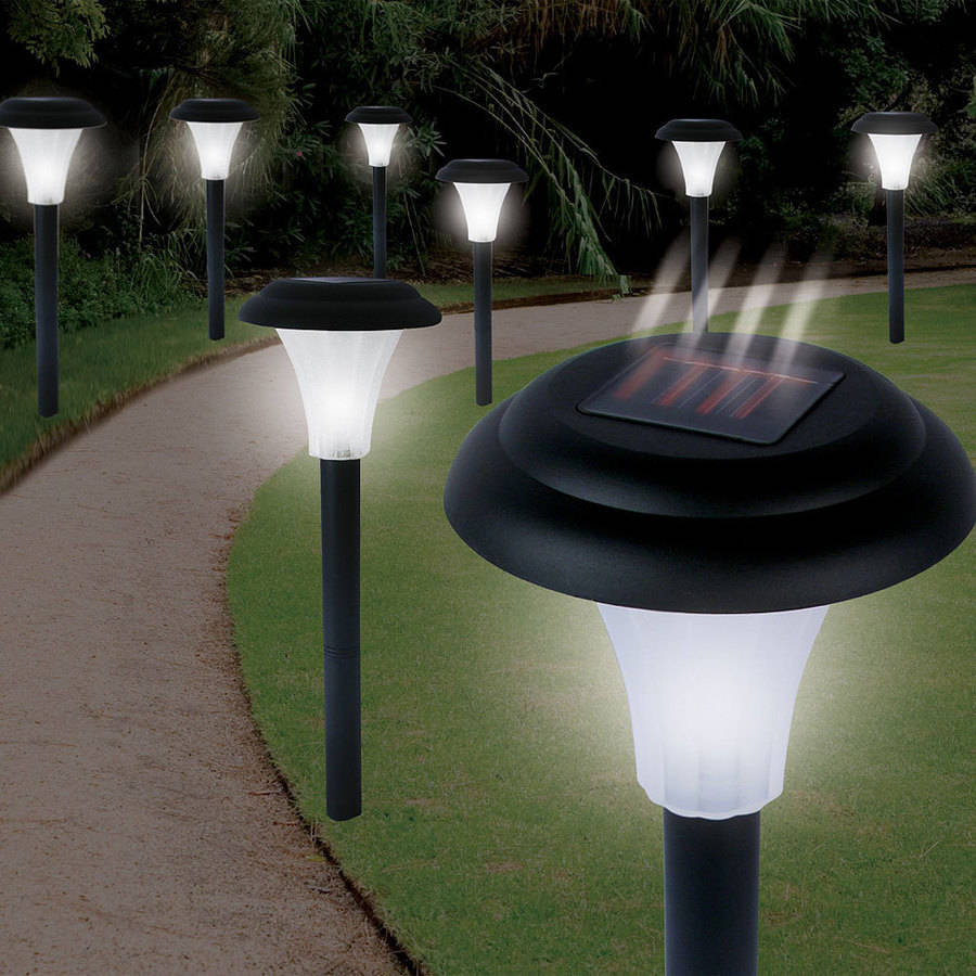 Pure Garden Solar Powered Black Accent Lights, Set of 8 by TRADEMARK GAMES INC