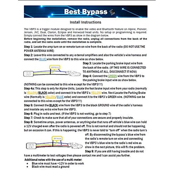 BestBypass VBP3 0 Parking Brake Bypass Video in Motion for all AVH Pioneer  2016 and 2017 units