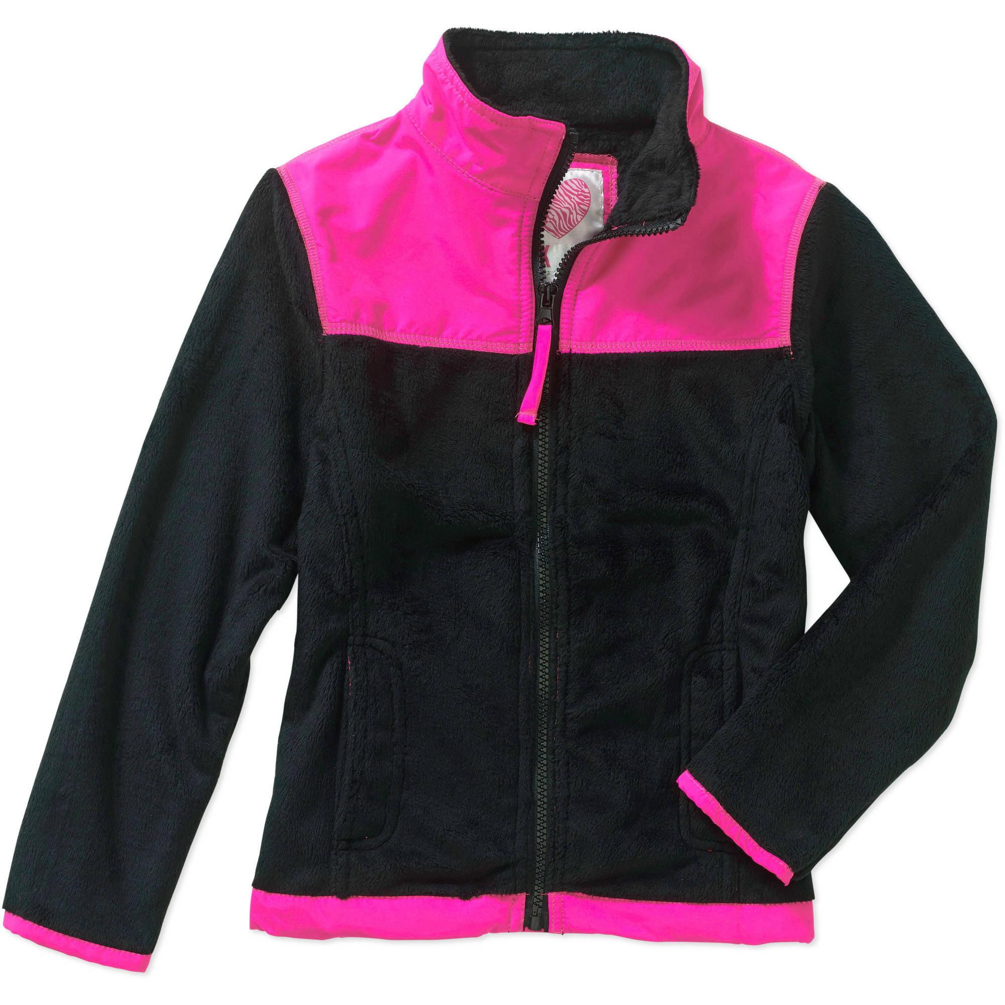 Pink House Girls' Teddy Bear Fleece Jacket - Walmart.com