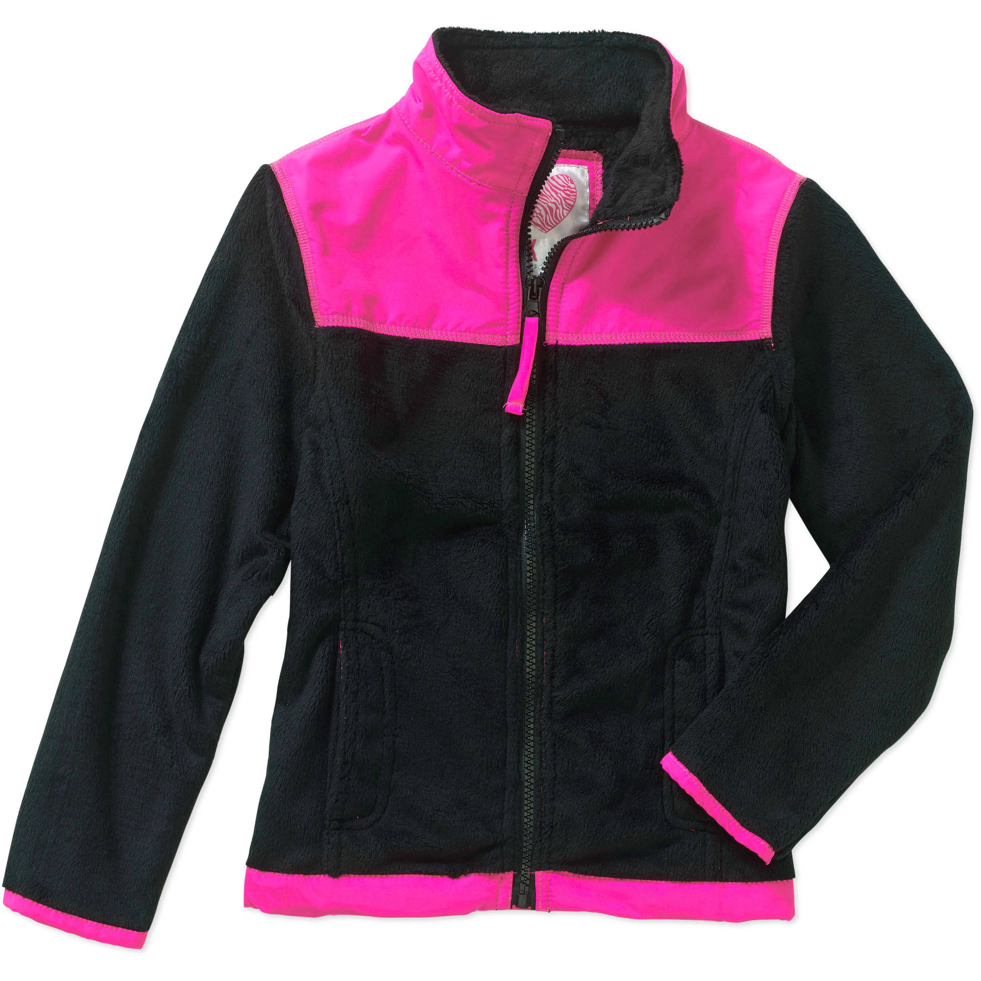 Pink House Girls' Teddy Bear Fleece Jacket