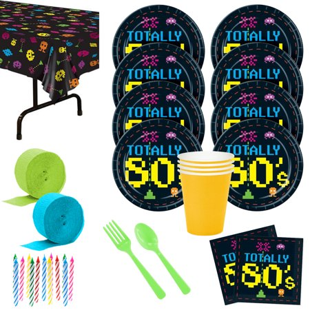 Totally 80'S Deluxe Kit (Serves 8) - Party Supplies - Decorations For 80's Party