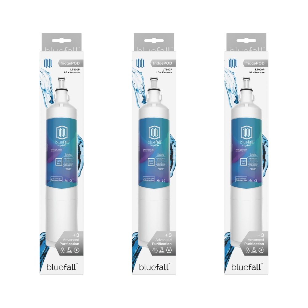 LG LT600P Refrigerator Water Filter  Compatible Replacement Refrigerator  Water Filter for LG LT600P by Bluefall - VALUE PACK 3