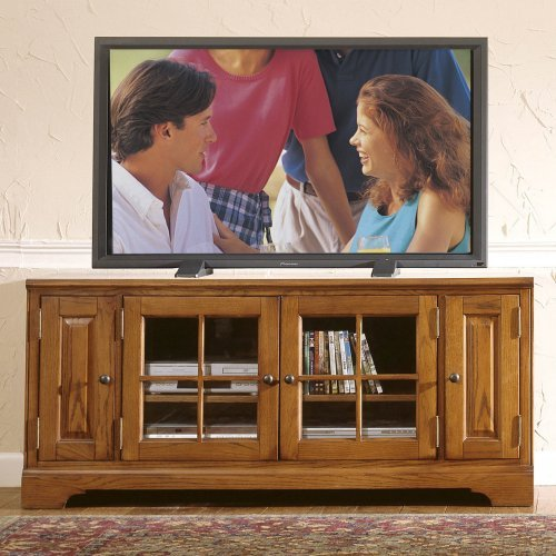 Riverside Visions III 60-Inch TV Console - Distressed Oak