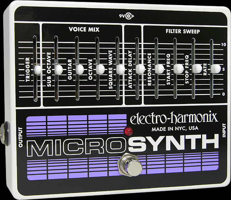 Electro Harmonix Microsynth Analog Guitar Synthesizer Pedal w  Power Supply Part Number:... by ELECTRO HARMONIX