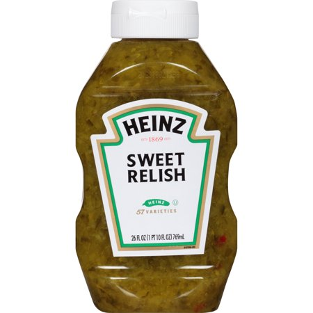 (2 Pack) Heinz Sweet Relish, 2 - 26 fl oz Bottles