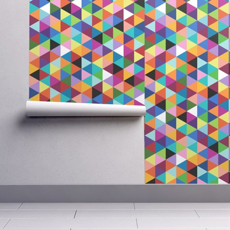 Removable Water-Activated Wallpaper Geometric Geometric Happy Multi Color Modern](Happy Halloween Wallpapers Hd)