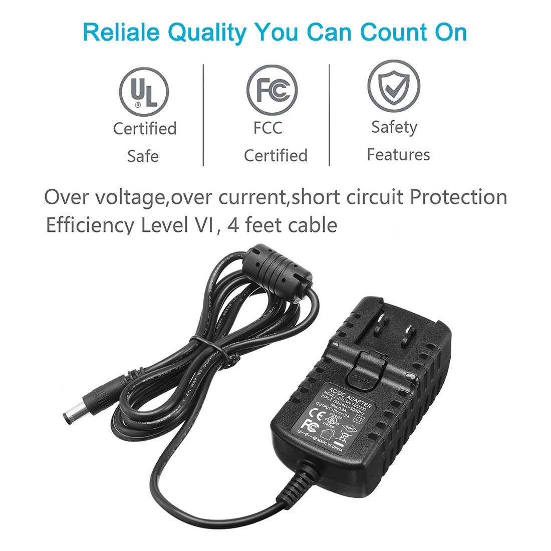 Ac 100 240v To Dc 12v 2a Power Adapter Charger Ul Listed W Au Us Plugs This Is A Regulated Supply With Short Circuit Protection And Qty