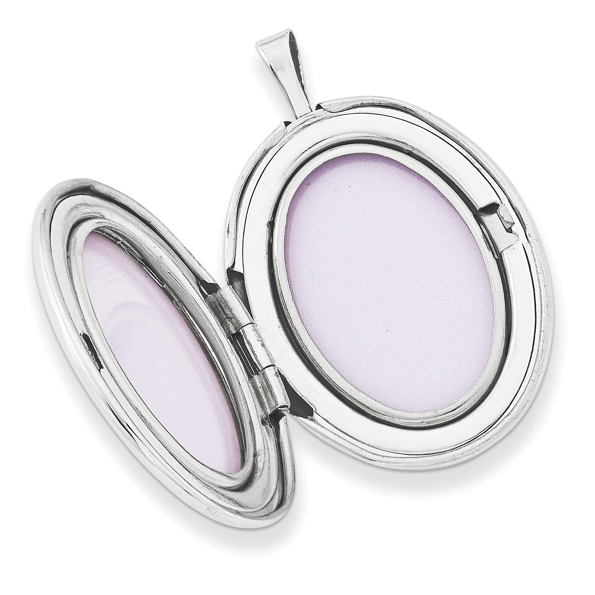 925 Sterling Silver 26mm Enameled Flower and Scroll Oval Locket Pendant Ideal Gifts For Women