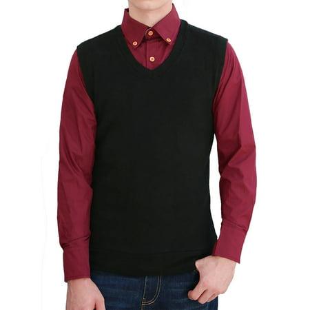 Nike Mens Knit Vest - Unique Bargains Men's V Neckline Elastic Casual Pullover Knit Vests