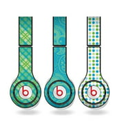 Green & Teal Skins for Beats Solo HD Headphones – Set of 3 Patterns