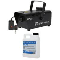 Rockville R700 Fog/Smoke Machine w/ Remote Quick Heatup, Thick Fog+Gallon Fluid
