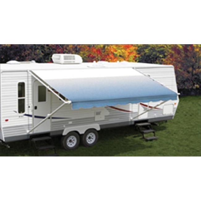 Carefree EA165200 16 Ft.  Vinyl Awning Fiesta, White Castings - Sierra Brown
