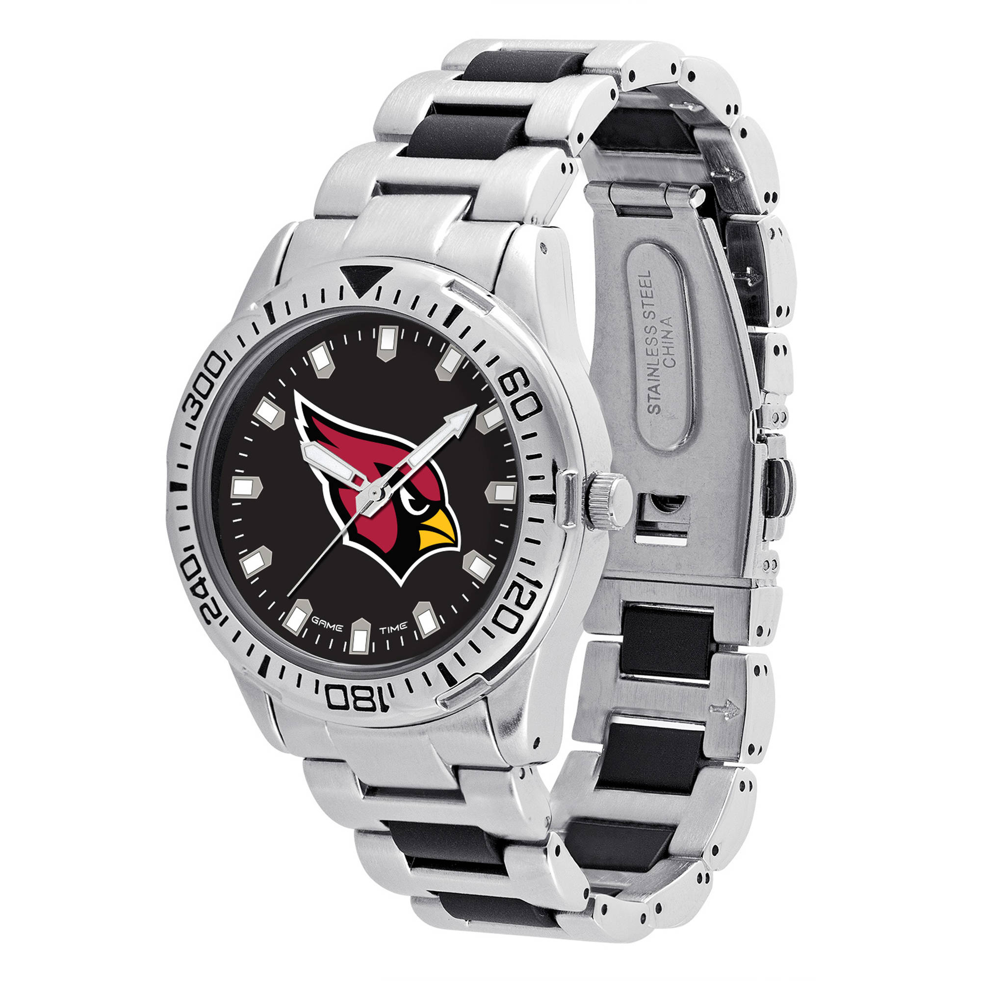 Game Time NFL Men's Arizona Cardinals Heavy Hitter Series Watch