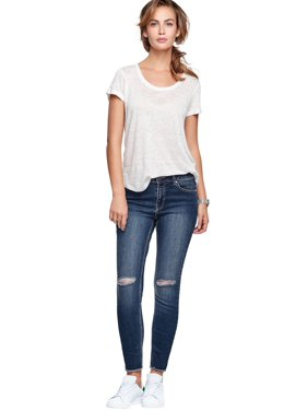 31f46060372 Product Image Plus Size Ripped Knee Skinny Jeans. Ellos