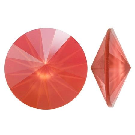 Swarovski Crystal, #1122 Rivoli Fancy Stones 14mm, 2 Pieces, Crystal Light Coral