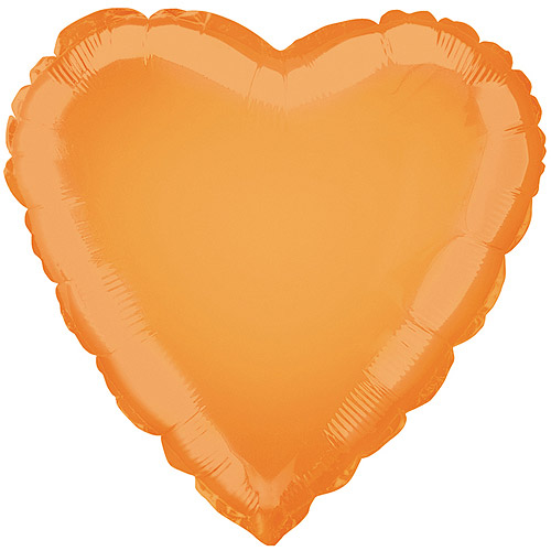 18'' Foil Orange Heart Balloon