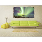 Startonight 3D Mural Wall Art Photo Decor Aurora Borealis Amazing Dual View Surprise Wall Mural Wallpaper for Bedroom Landscapes Wall Paper Art Gift Large 47.24 '' By 86.61 ''